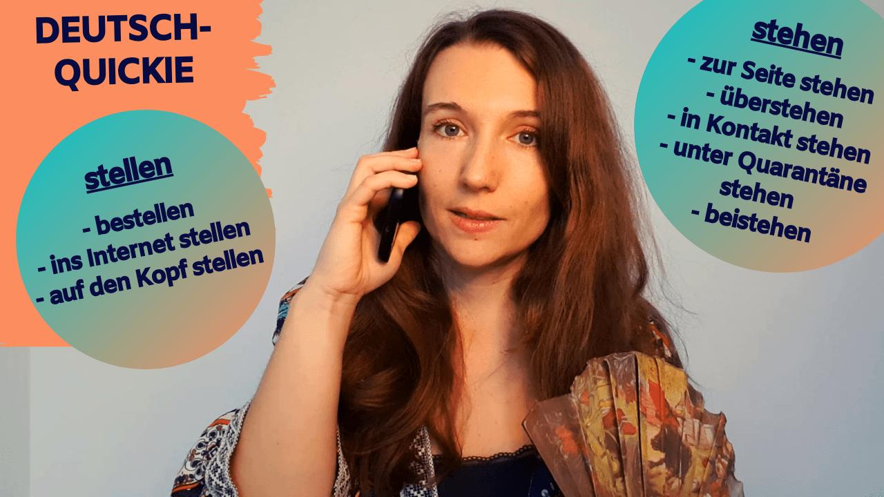 """Deutsch-Quickie – Verben """"stehen"""" + """"stellen"""" (Teil 2)"""